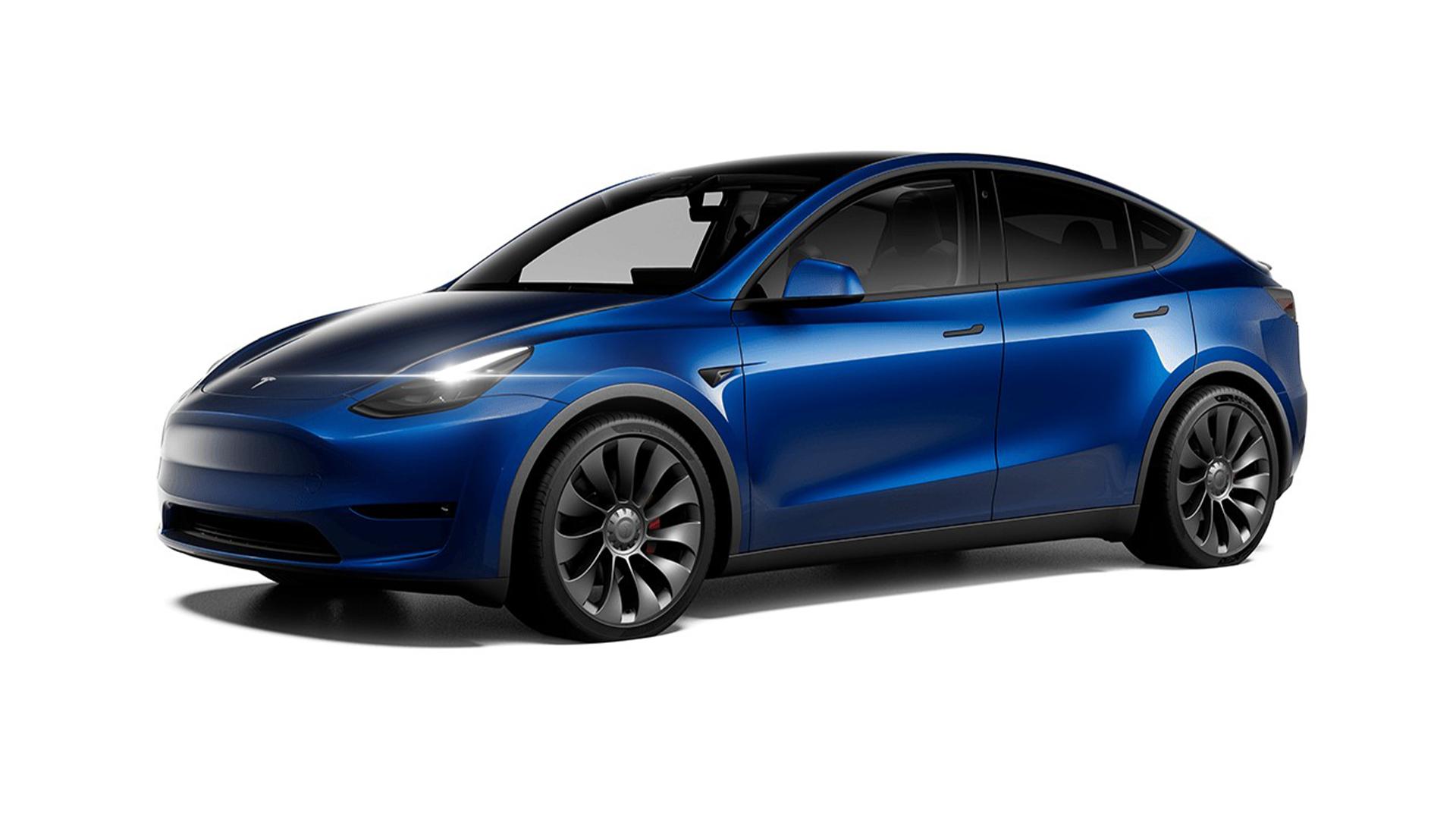 Tesla Model Y sur le côté